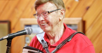 t05.24.2015 -- Steve Kuchera -- kucheraPOLKA0528c1 -- Florian Chmielewski plays at the Cloquet VFW on Sunday. He has played the accordion for 70 years, and his 70 Anniversary Special and 37th International Polka Festival begins Friday at Grand Casino Hinckley. Steve Kuchera / skuchera@duluthnews.com